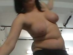 Hard action for chubby brunette at casting call