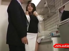 Hot Office Lady Masturbating While Standing In The Office Kitchen