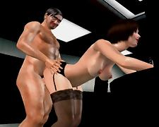 My Wife Her Boss and a Camera animation 3dsexvilla2 office