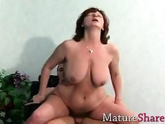 Large grandma fucks her new toyboy