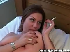Non Professional cuckold mother I'd like to fuck in dark nylons nailed by darksome mate