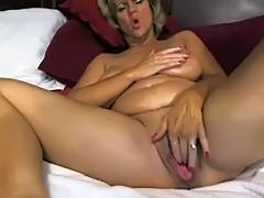 Outstanding large tited mommy masturbates