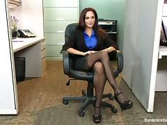 Horny Dudes Gangbang Teasing Busty Slut Ava Addams in the Office
