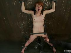 Redhead Beauty Juliette March Forced to Orgasm Bounded and Toyed