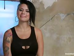 Busty Eva Angelina blows dicks and gets fucked rough