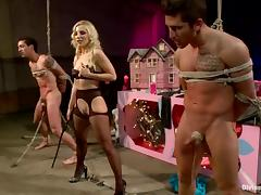 Nasty Ashley Fires humiliates a guy and toys his ass