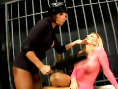 Ludicrous Lesbian Orgy with Cops with the addition of Inmates in Black hole