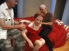 Nasty Granny Received Two Mighty Pricks Into Her Hole