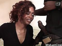 Horny ghetto slut sucks big black cock part5