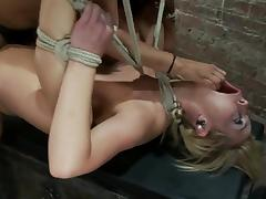 Hot Tara Lynn Foxx gets hog tied and fisted by Isis Love