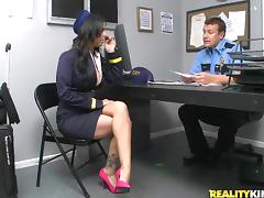 Tasty Brandy Aniston Wearing A Sexy Uniform Gets Fucked By A Security Guard