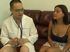 Hot Selma Sins gets her vagina fucked by an Asian doctor
