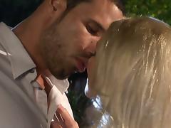 Slender Diana Doll gets fucked near a fountain at night