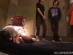 Sexy Asian teen Rina Hatsume loves fucking in group