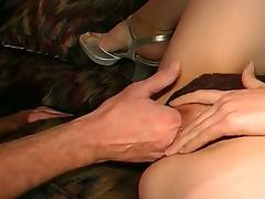 Father and Son Teams up to Fuck Nasty Brunette