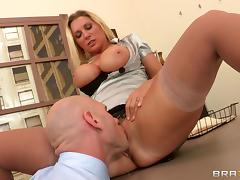 Amazing sex in the office with the beautiful Devon Lee