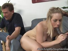 Cindi Loo sucks a BBC and gets her coochie ripped apart