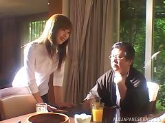 Horny Japanese cowgirl With Small Tits Drilled In A Homemade Hardcore