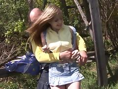 Sexy Babes In Miniskirt Getting Smashed Hardcore Outdoor