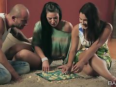Hardcore FFM vid with Athina and Valentina Nappi sharing a dick